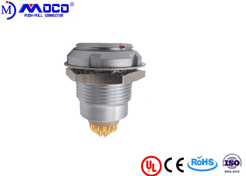 Electrical metal push pull connectors ECG circular socket